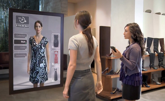 Augmented reality for online shopping